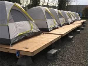 Othello Village - Tents on platforms