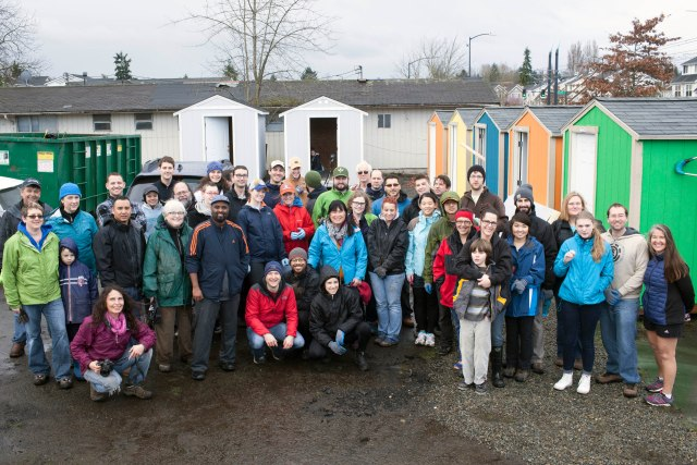 at Othello Village homeless encampment in the Rainier Valley of Seattle, Washington, February 28, 2016.