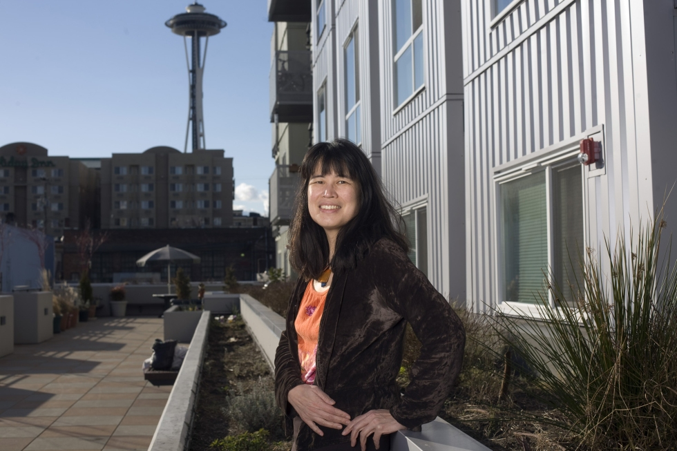 SEATTLE, WA - Feb 25: Sharon Lee, Executive Director of the Low Income Housing Institute at the Denny Park apartments. Photo by Ron Wurzer