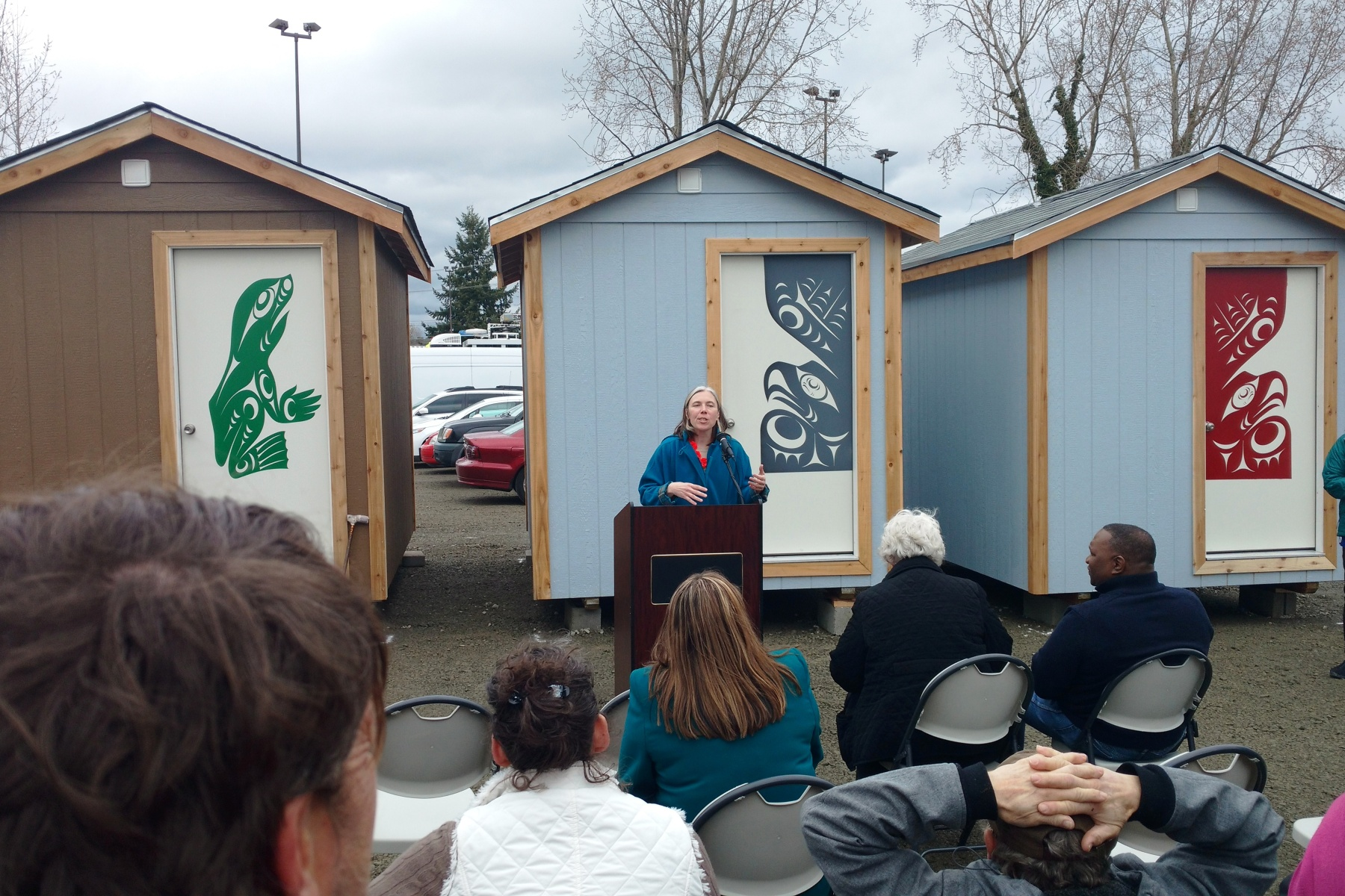 Nickelsville And The Tulalip Tribes Held A Ceremony For Georgetown Tiny House Village Fourth City Of Seattle Sanctioned Homeless Encampment